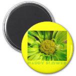 Cool 'Happy Flower' Daisy Refrigerator Magnet