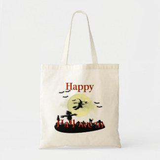 Cool Happy Halloween Scene Cemetery Canvas Bag