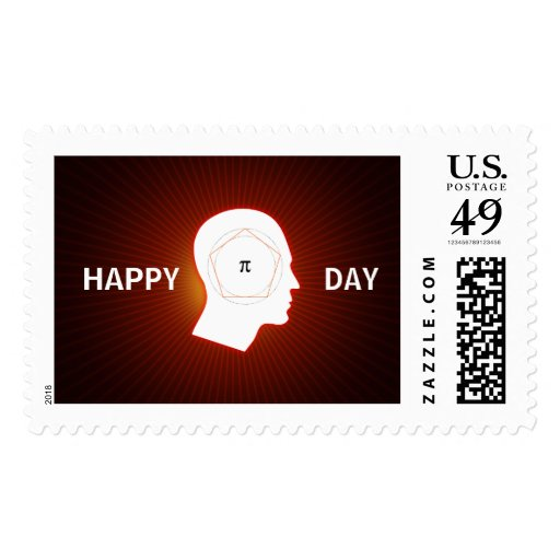 Cool Happy Pi Day - Postage