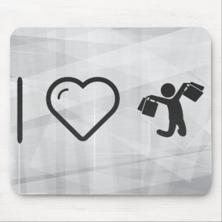 Cool Happy Shoppers Mouse Pad