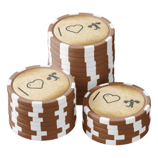 Cool Happy Shoppers Poker Chips