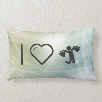 Cool Happy Shoppers Throw Pillows