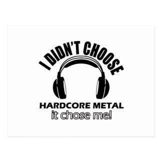 Cool hardcore metal designs postcard