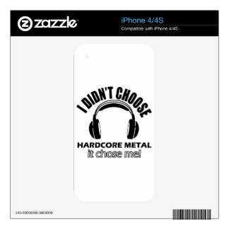 Cool hardcore metal designs iPhone 4S decals