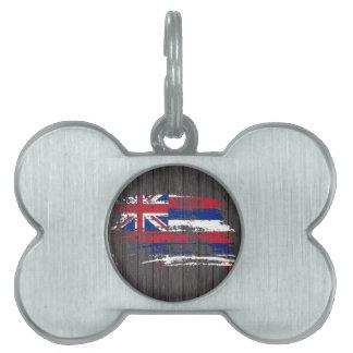 Cool Hawaiian flag design Pet ID Tags