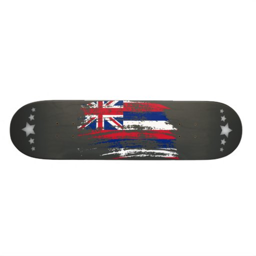Cool Hawaiian flag design Skate Board Decks