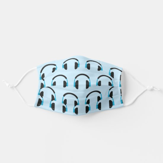 Cool Headphones Music Cloth Face Mask