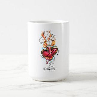 Cool Heart and Cross tattoo  mug