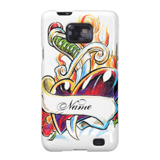 Cool Heart and Dagger tattoo Samsung Galaxy Galaxy S2 Covers