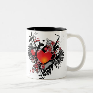 Cool Heart and Musical Instrument Mug