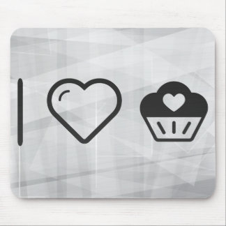 Cool Heart Cupcakes Mouse Pad