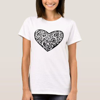 Cool Heart Illustration T-Shirt