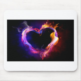 cool heart mouse pad