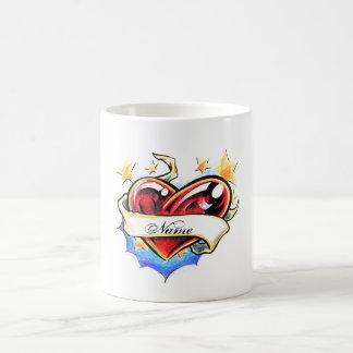Cool Heart tattoo name dedication love  mug