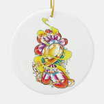 Cool Heart with Rainbow Feathers Christmas Tree Ornaments