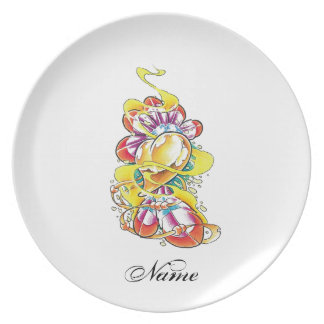 Cool Heart with Rainbow Feathers Plate