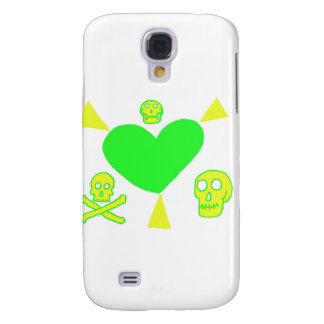 Cool Heart With Rays and Skulls Galaxy S4 Cover