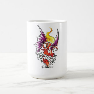 Cool Heart with Thorns and Dragon Wings Coffee Mug