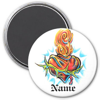 Cool Heart with Thorns tattoo  magnet