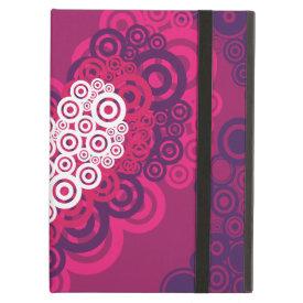 Cool Hearts Circle Pattern Hot Pink Purple iPad Cover