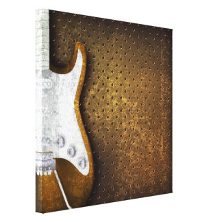 Cool Heavy Metal Grunge Electric Guitar Canvas Print