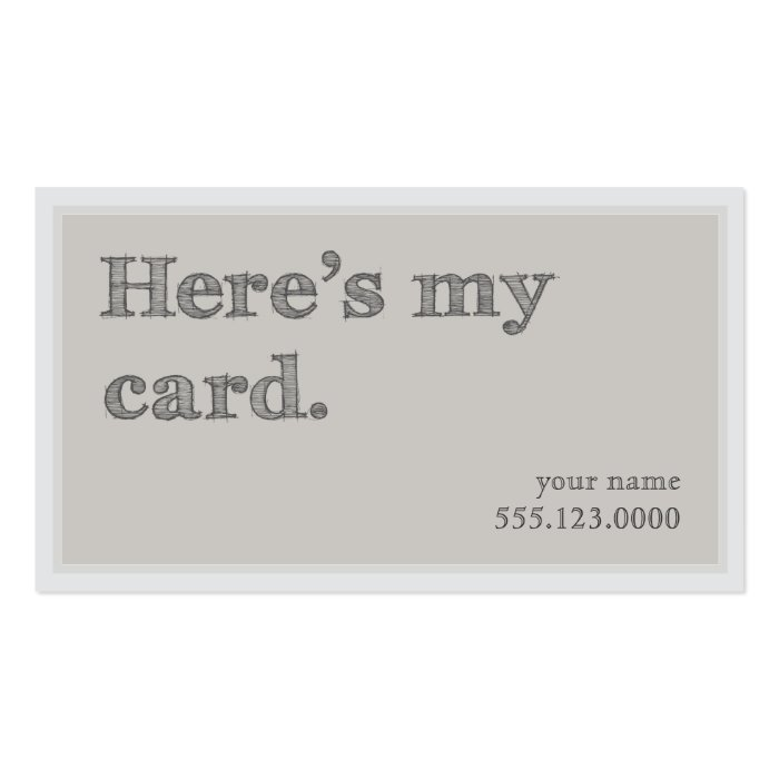"""Cool """"Here s My Card"""" Networking Groupon Business Card"""
