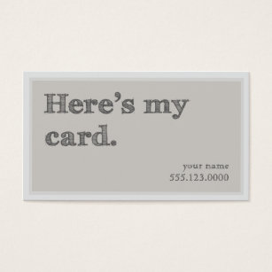 Networking business cards templates zazzle cool heres my card networking groupon business card cheaphphosting Choice Image