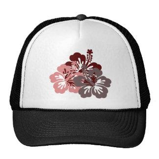 cool hibiscus trucker hat