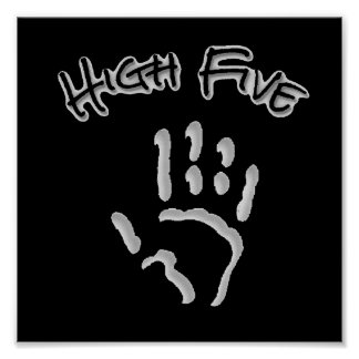 Cool High Five Hand Poster