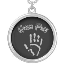 Cool High Five Hand Silver Plated Necklace