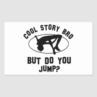 cool high jump designs rectangular sticker