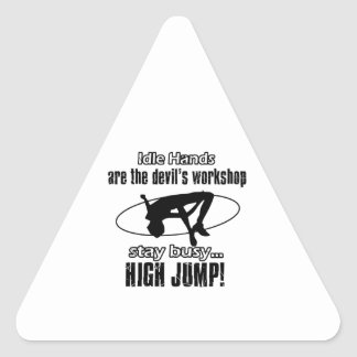 Cool HIGH JUMPING designs Triangle Sticker