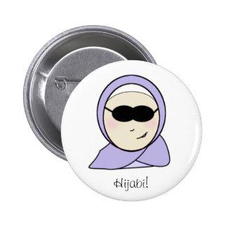 Cool Hijabi - islamic muslim girl with hijab print Pinback Button