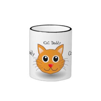 Cool Hip Cat Daddy Proud Pet Owner Ringer Mug