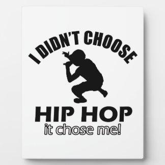 Cool Hip Hop designs Photo Plaques