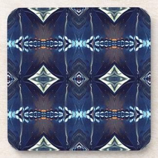 Cool Hip Trendy Blue Tribal Pattern Coaster