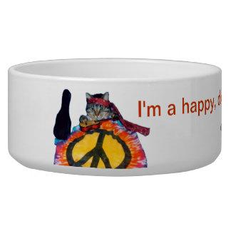 Cool hippie cat Pet Bowl