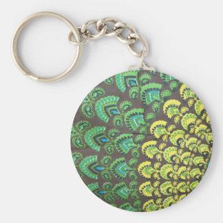 Cool Hippie Design Keychain