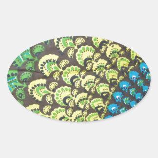 Cool Hippie Design Oval Sticker