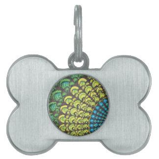 Cool Hippie Design Pet ID Tag