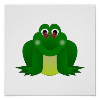 Cool Hippie Frog Posters