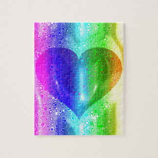 Cool Hippy Heart Design Jigsaw Puzzle