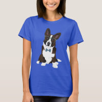 Cool Hipster Cardigan Welsh Corgi for Dog Lovers T-Shirt