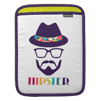 cool hipster cool hat glasses fun beard sleeve for iPads