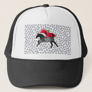 Cool Hipster Diamonds Roses Horse Nebula Galaxy Trucker Hat
