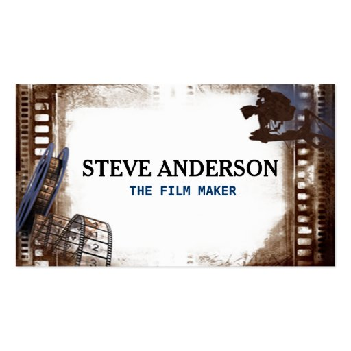 Cool hipster grungy film business movie maker business for Hipster business card