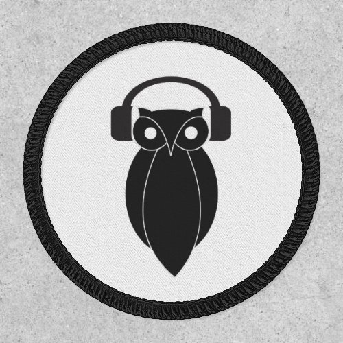 Cool Hipster Owl with Headphones Patch