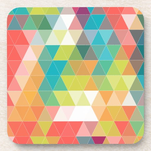 Cool Hipster Pattern Drink Coasters Zazzle