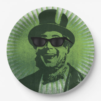 Cool Hipster Saint Patrick Paper Plate