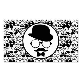 Cool Hipster Surrounded by Eyeglasses Double-Sided Standard Business Cards (Pack Of 100)